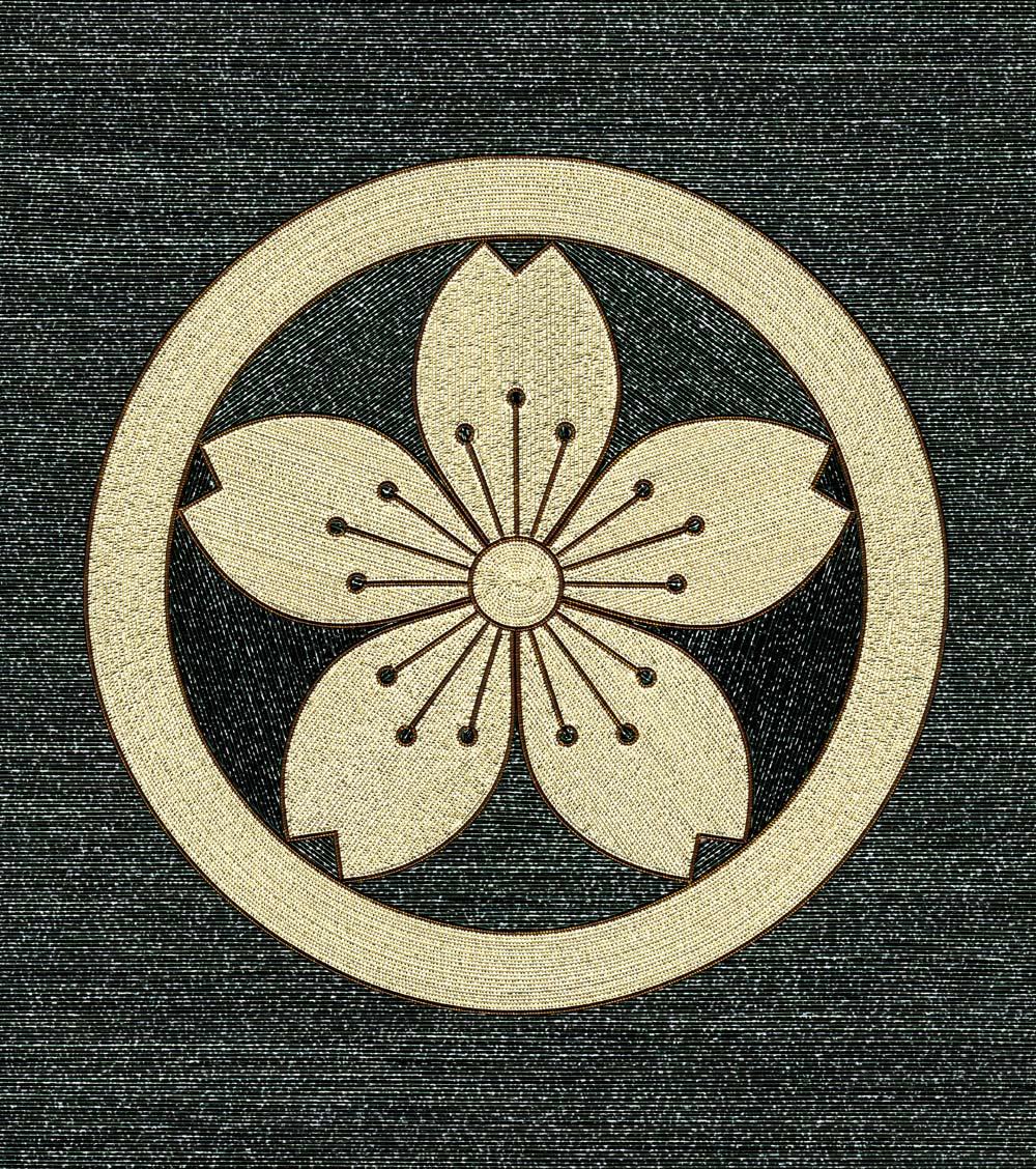 丸に変り山桜紋