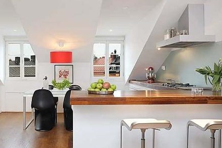 Kitchen-Design-with-Red-Chindelier-of-Beautiful-Rental-Apartment.jpg