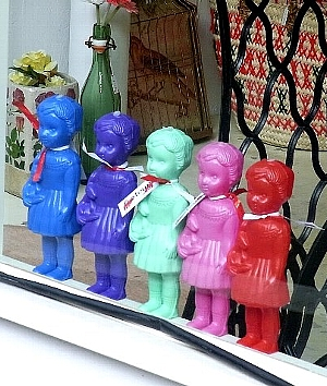 5色人形少