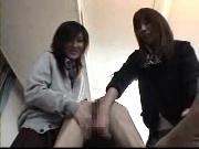 ちんぐりコキ&顔面騎乗で責める女子校生二人!