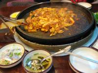 夕食はかおりさんとタッカルビ(鶏)