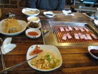 サムギョプサル(豚肉)食べかけ