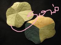 葉っぱのコースター