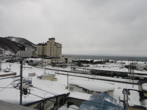 冬の浅虫温泉街