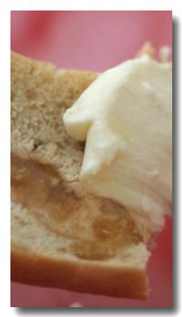 クリームチーズと蜂蜜