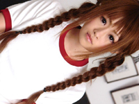 【無修正】スジッ娘4番目、おさげにブルマ美少女に中出し!
