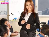 【無修正】モニカ先生の英語でフェラ抜き中出し授業!オ~イェ~