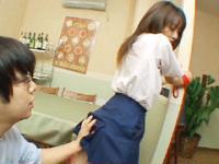 【無修正】制服の美少女柱に縛ってブルセラ生中出し!