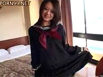 【無修正】声をかけてきた女子校生をホテルに連れ込んで中出しまでしてしまう!
