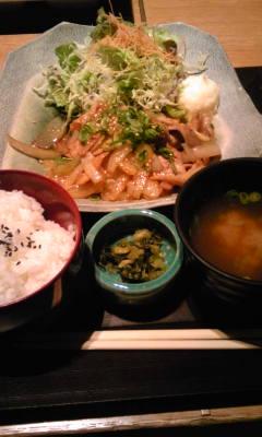 豆とん庵ランチ~豚生姜焼き