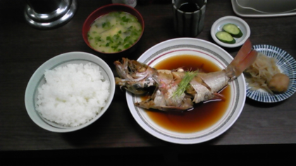 赤むつ(のどぐろ)煮定食