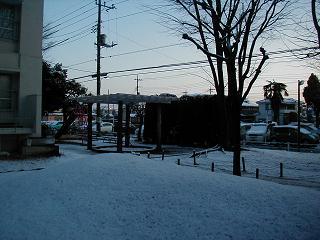 雪の日の…