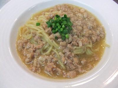 上海蟹と豚肉の和え麺