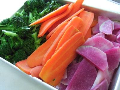 2010_0108自家菜園蒸し野菜
