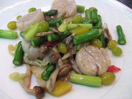 ホタテと季節野菜