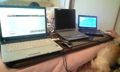 100103パソコン三台