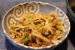 大根納豆和え