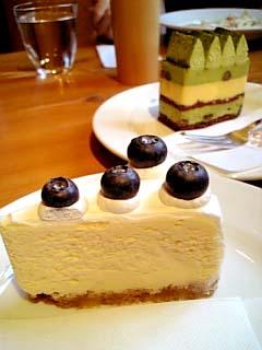 OAK WOOD ブルーベリーチーズケーキ?+宇治
