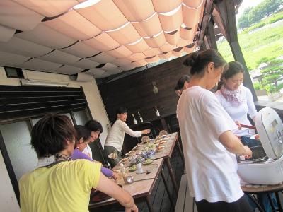2011年7月2日菱山ぶどう畑ヨガ (8)