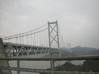 向島から見た因島大橋