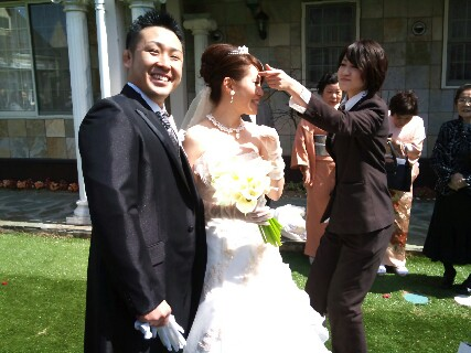 真下結婚式