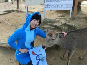 奈良の鹿に認めてもらえる♪