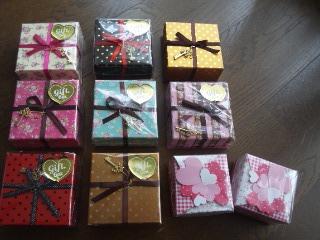 友チョコラッピング用キュートボックス