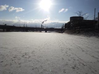 雪と太陽と市役所