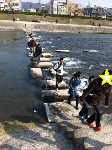 京都マラソンぴょんぴょこ石