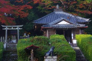 大願寺毘沙門堂と鳥居