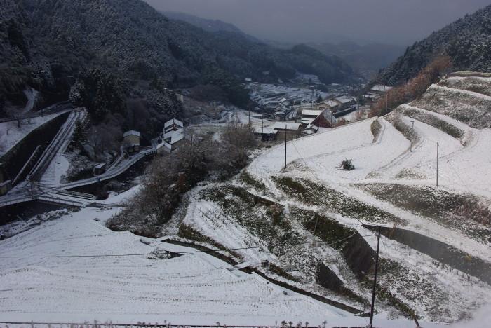 細川集落雪景色