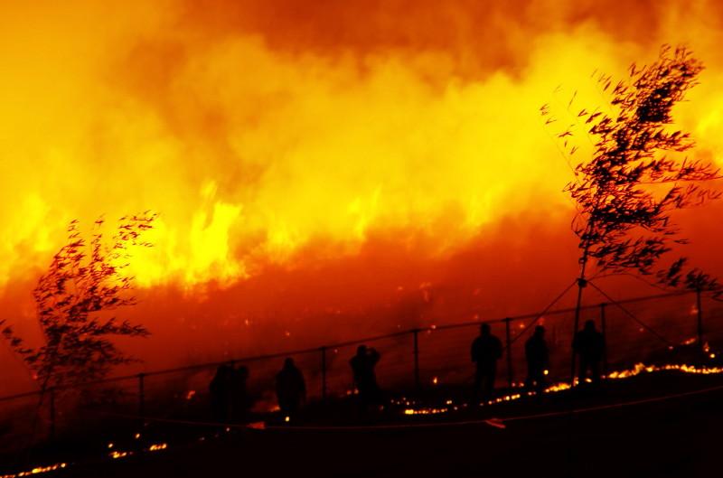 山焼き 消防団
