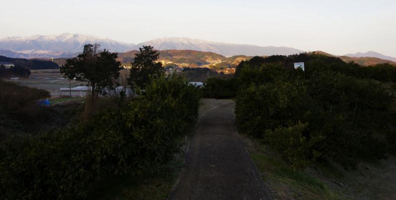 ロータリーの森 金剛葛城と二上山
