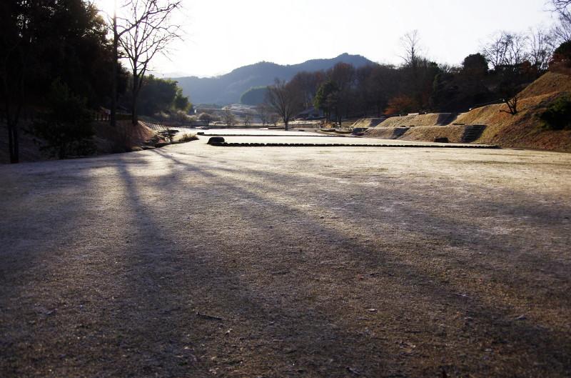 飛鳥 高松塚の朝日