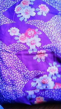 生地銘仙紫花