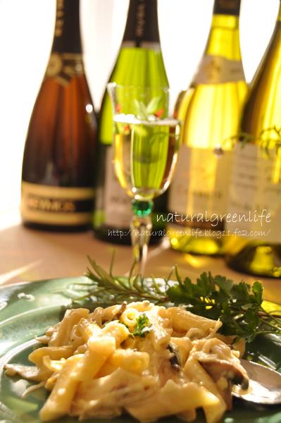 ゴルゴンゾーラ ペンネ とワイン