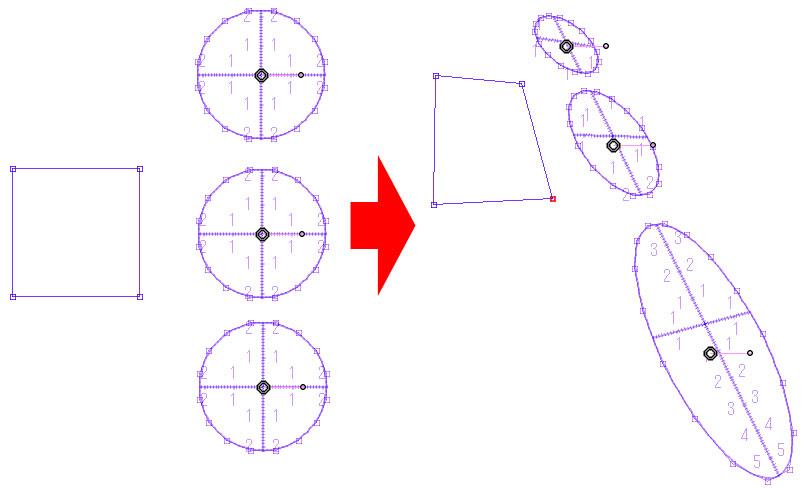 4.5.0アップデート・分離した複数の楕円定規の変形