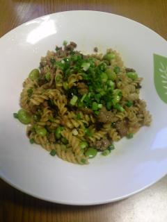 ピリ辛枝豆パスタ