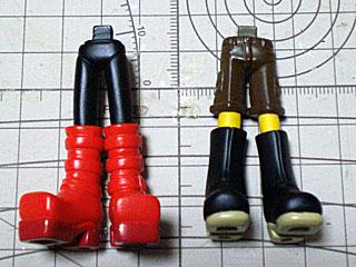 取り出しましたるは7期ブーツ足2種(・ω・)