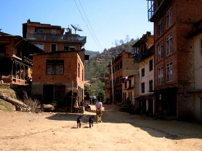 ナーモブッダのそばの村