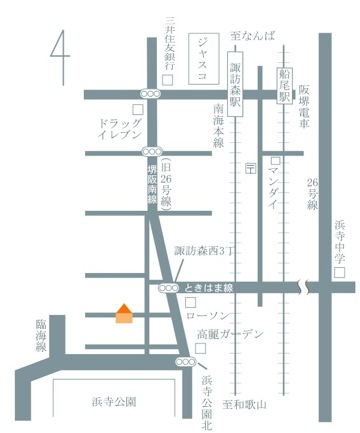 諏訪ノ森地図