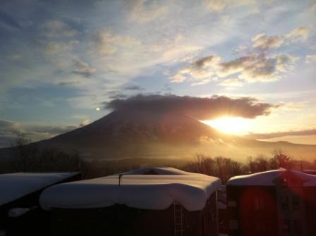 羊蹄山 初日2012