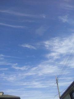 昨日の秋空