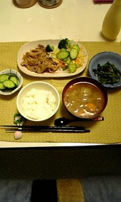 ある日の夕食☆生姜焼き