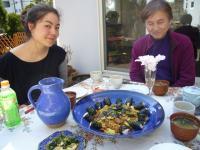 庭青皿昼食