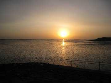 有明海の朝日3