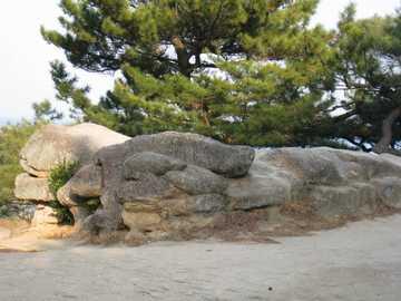砂絵の展望岩