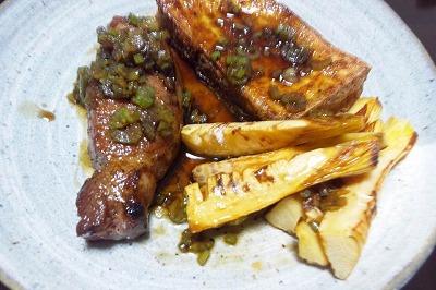 イベリコわさび醤油ステーキ
