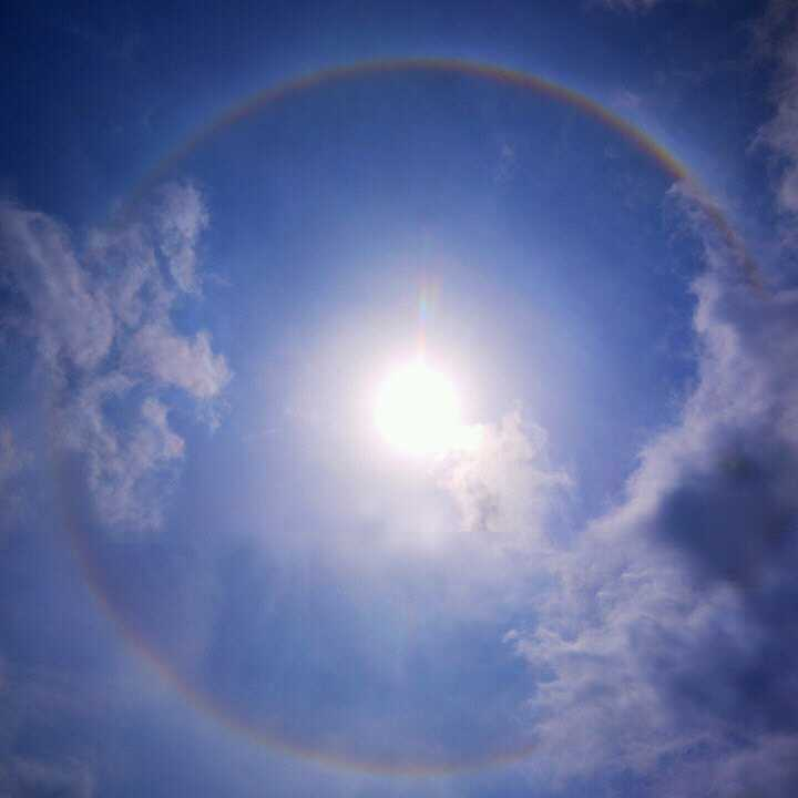 ダイナビの宋ちゃんが撮って送ってくれた5月31日の日輪の写真♪