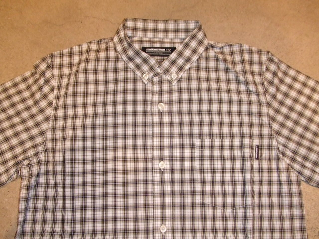 MDY CLASSIC CHECK SHIRTS WHITE FT1